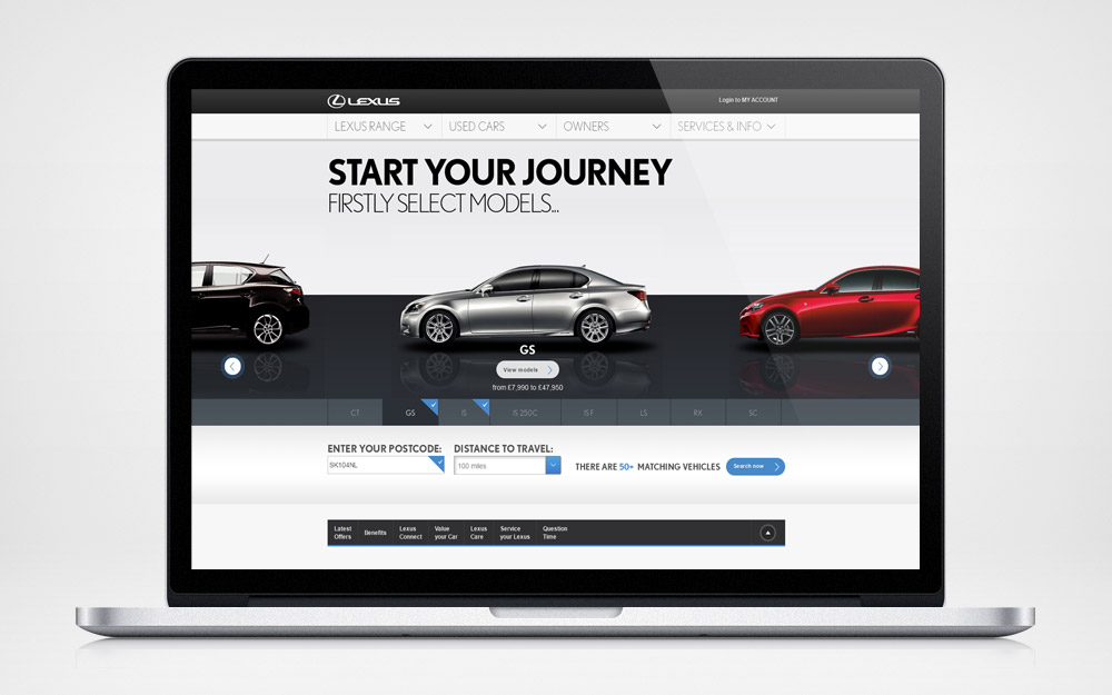 Lexus used car locator - home page