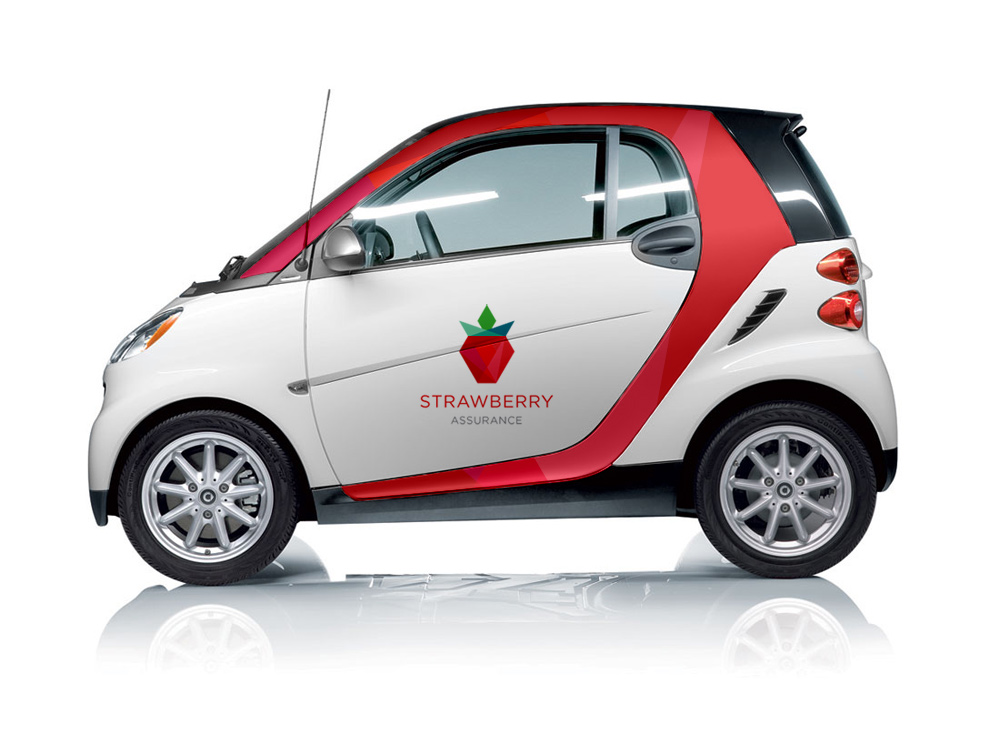 Branded Strawberry Assurance car
