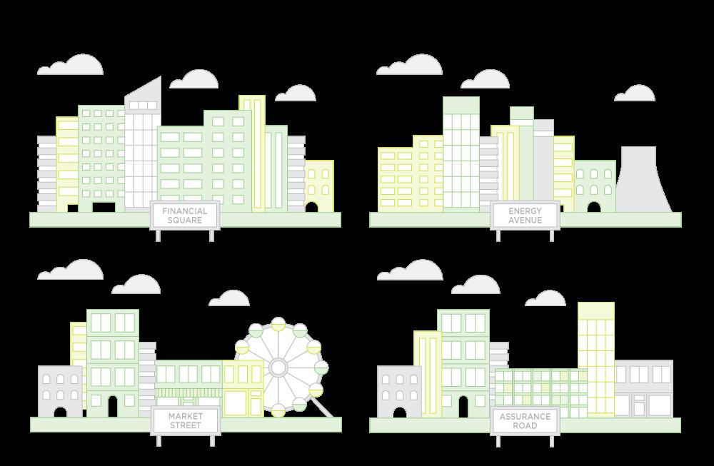 Qivox sector vector illustrations