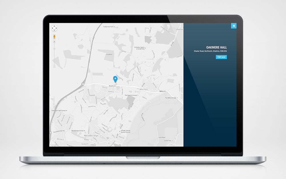 Full screen custom Google map on properties page