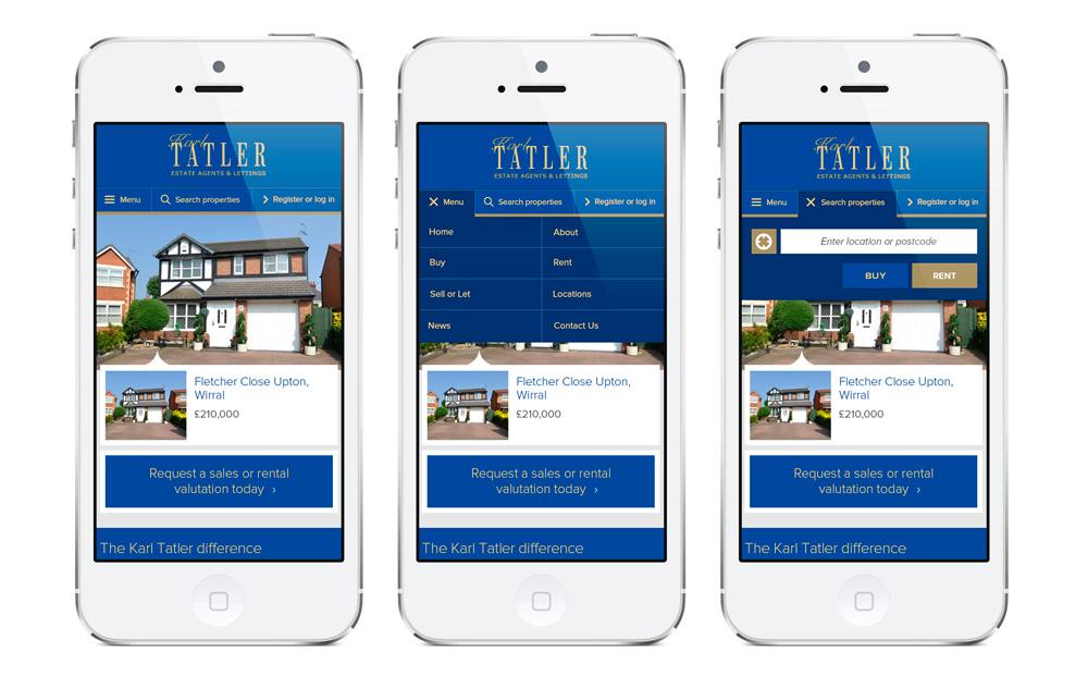 Mobile menu design