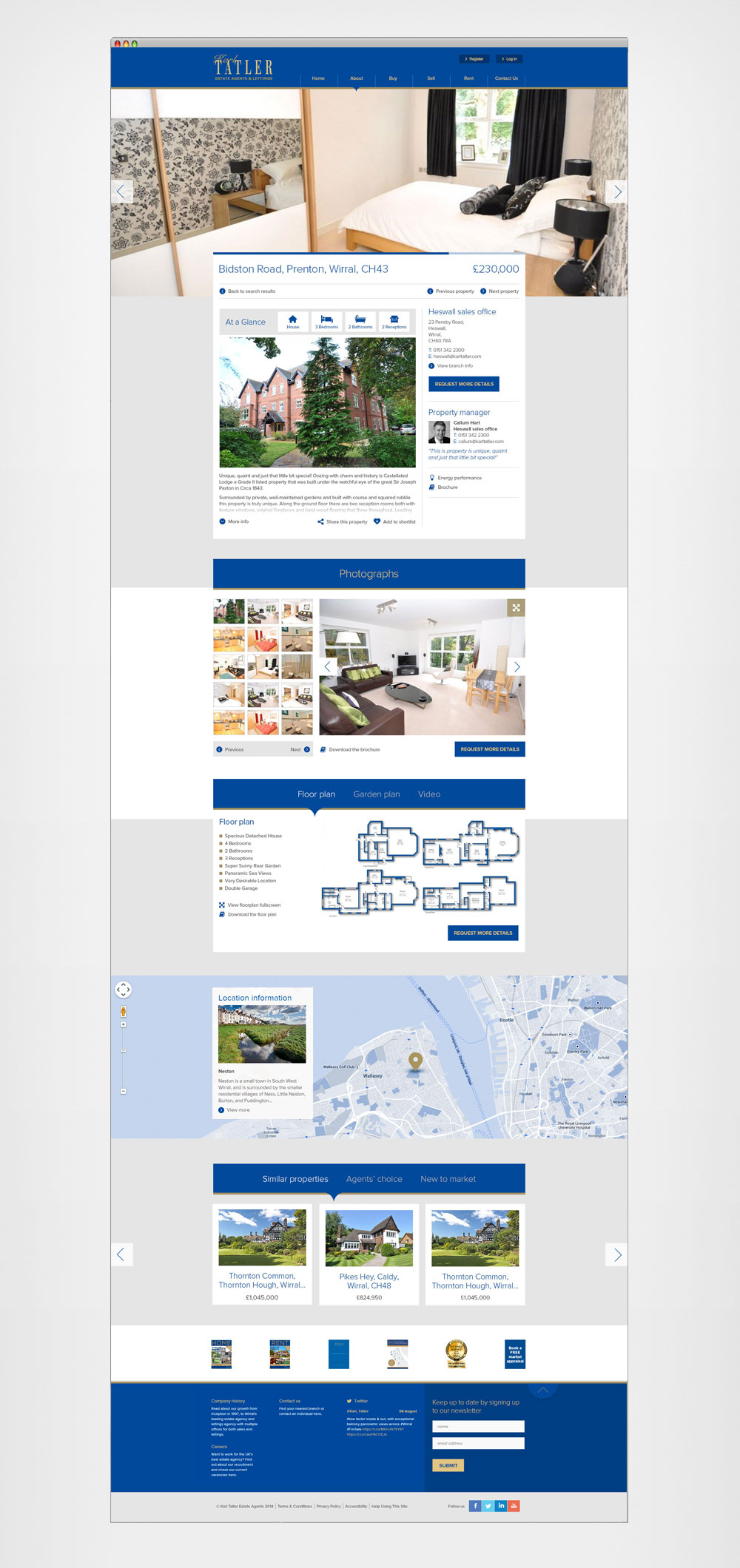 Properties detail page