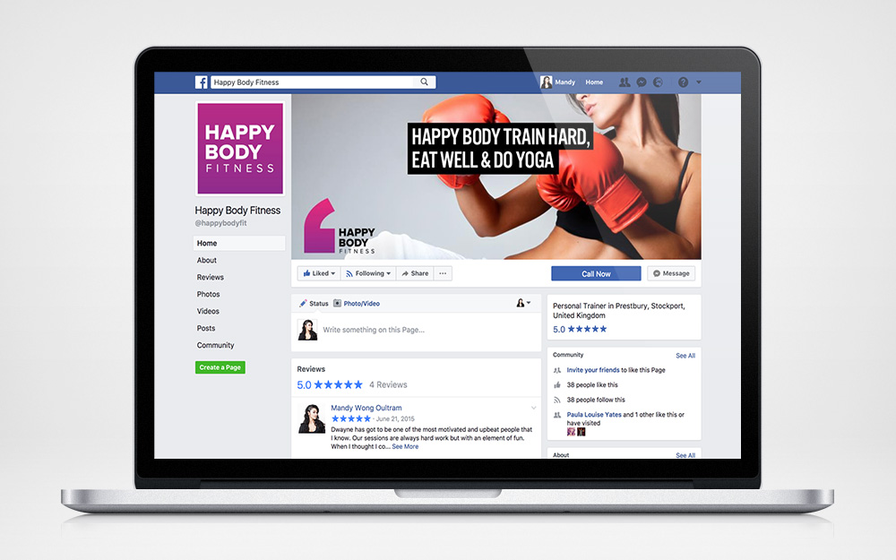 Branded Facebook page