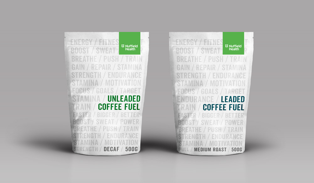 Nuffield Health Coffee Packaging Design Concepts